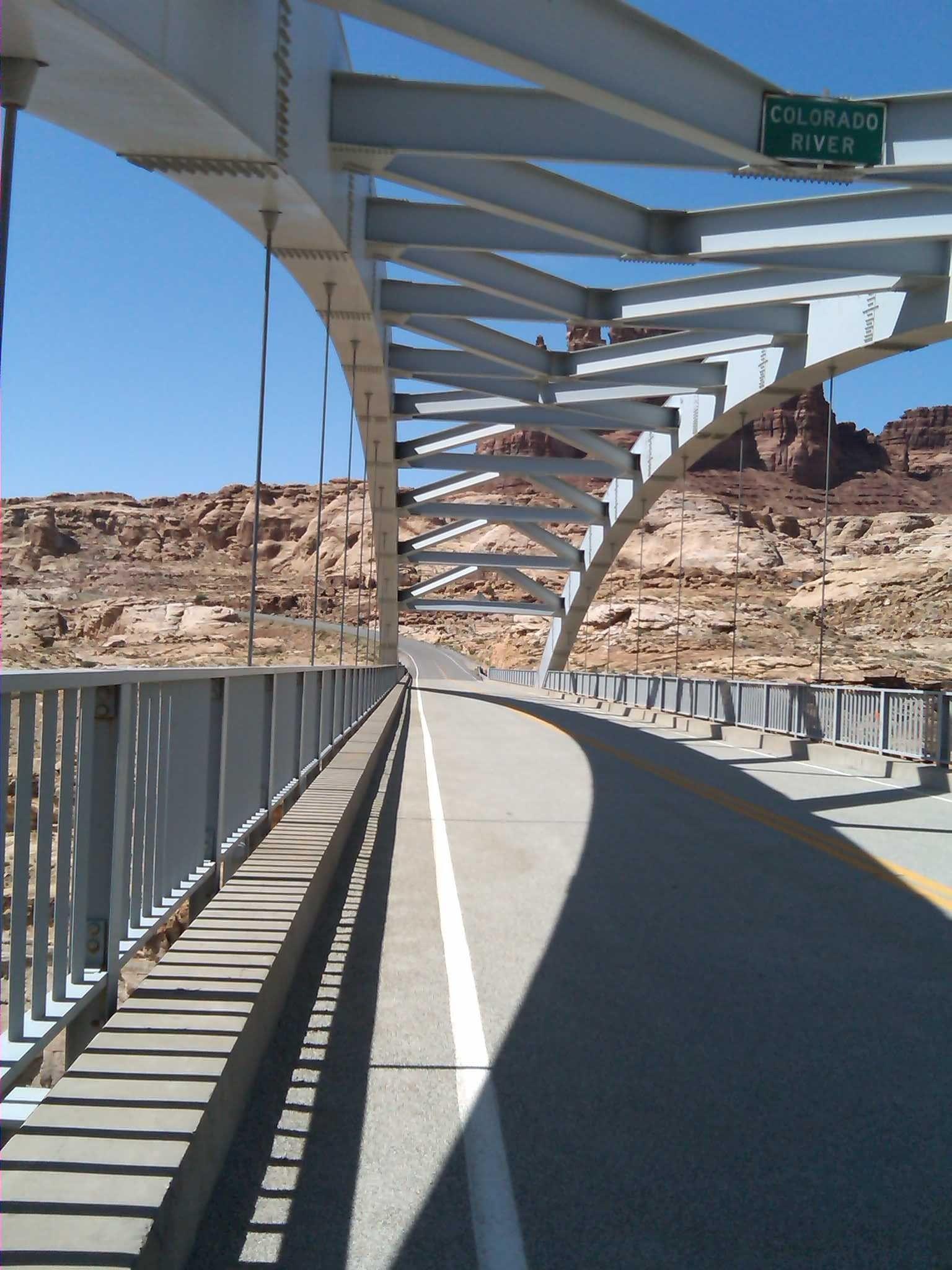 Hite Bridge over Colorado River at the top of Lake Powell, Utah