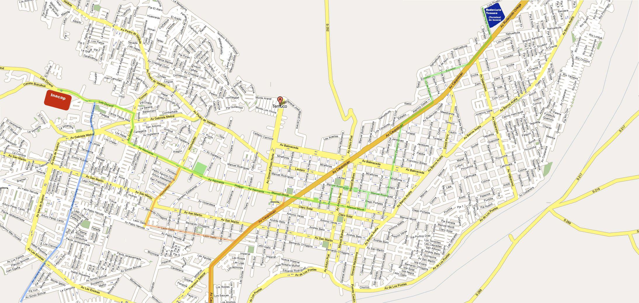 Mapa Temuco Http Gexpo Rayout Cl Images Rutero Temuco Grande Jpg