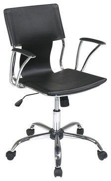 Avenue Six Dorado Office Chair in Black modern task chairs