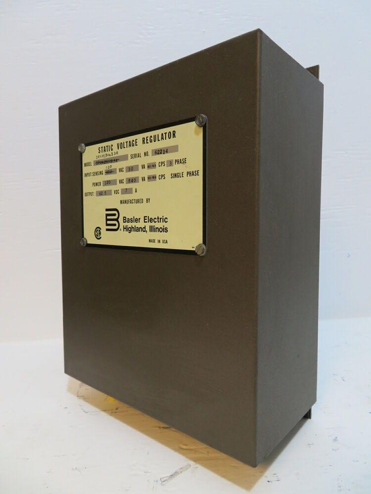 eBay #Sponsored Basler Electric SR4A2B06B3A Static Voltage ... on