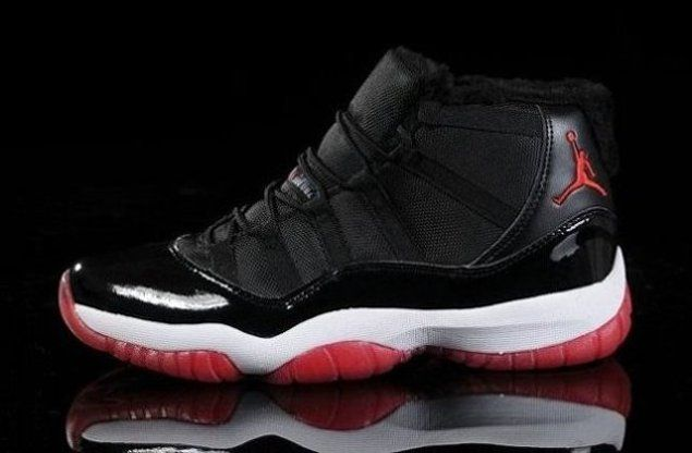 Cheap Sale Popular Air Jordan 11 XI Retro Mens Shoes For Winter Black Red