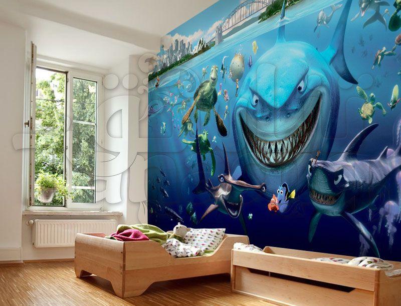 ورق حائط أطفال ثري دي نيمو غرفة نوم أطفال كرتون نيمو و دوري حجم كبير Home Decor Decor Home