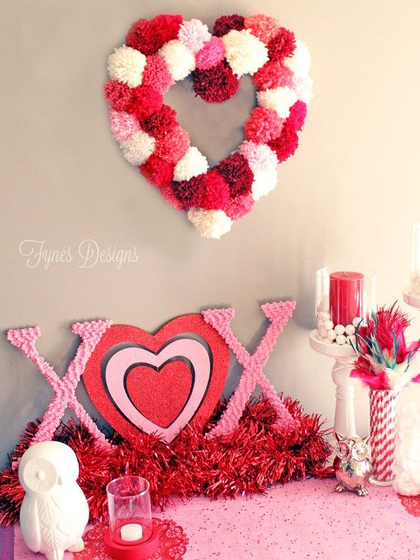 sweet Valentines vignette- tutorial for making a heart wreath form