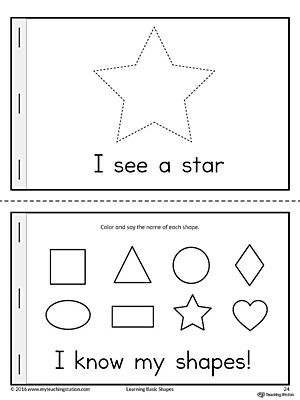 Basic Geometric Shapes Mini Book Teaching Shapes Shapes Preschool Mini Books