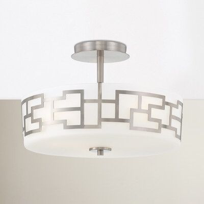 Brockman 3 light semi flush mount