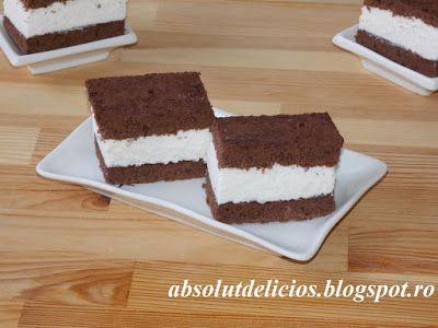 Absolut Delicios - Retete culinare: PRAJITURA FELIE DE LAPTE (KINDER MILCHSCHNITTE)