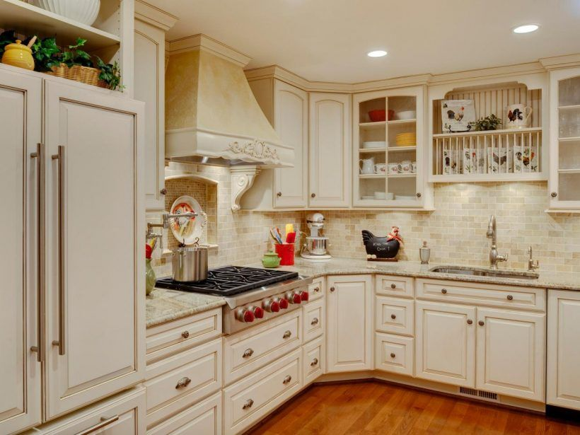 English Country Kitchen Cabinets Kitchen : Fabulous Vintage Kitchen In English White Oak Wood