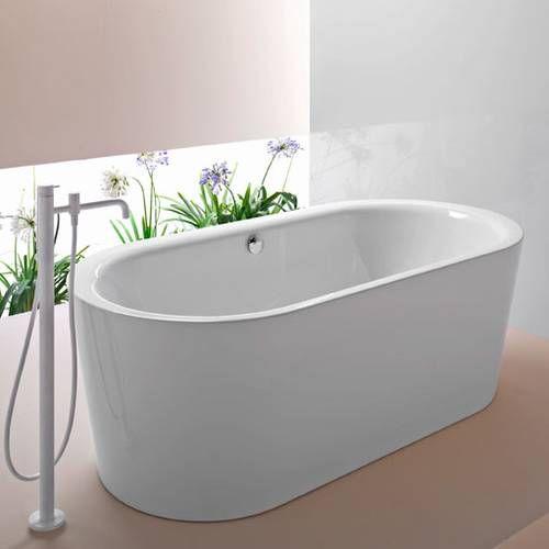 Acryl Badewanne Freistehend tess oval-badewanne freistehend, 1850x900mm weiß, starkes acryl