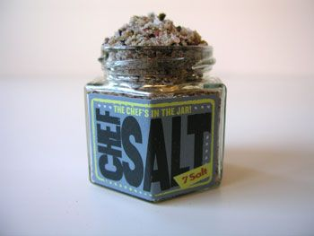 I'd put a jar or two of this 7 Salt from Chef Salt on the tables, so people could jazz up their dishes by sprinkling a bit, when needed!