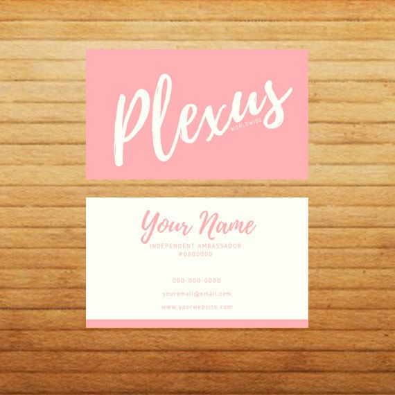 DIGITAL Simple Chic Plexus Business Cards By SparrowMedia On Etsy