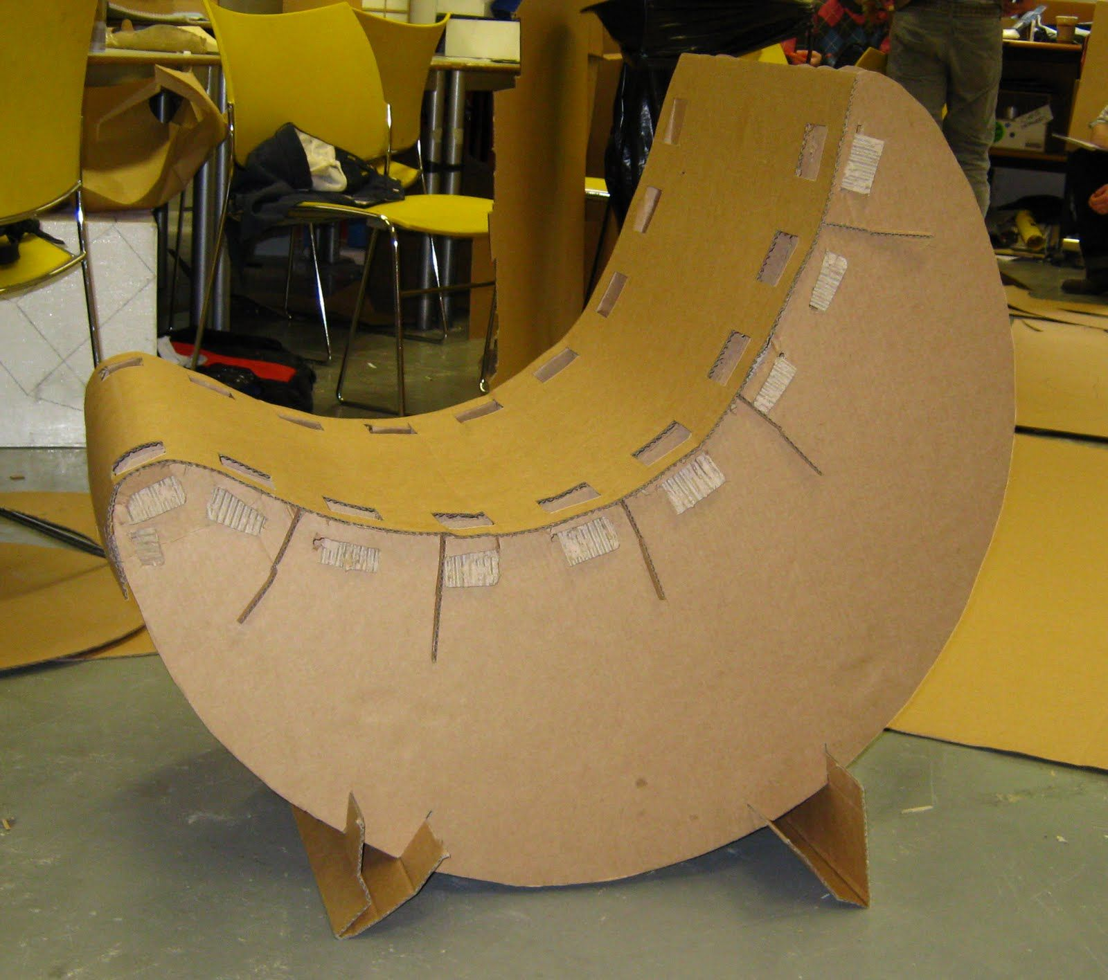 Banana Rocker Chair Banana Cardboard Chair Cardboard Chairs Cardboard Furniture