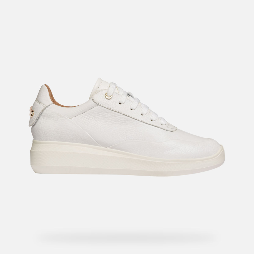 engranaje Lamer Pobreza extrema  Geox Women's D RUBIDIA White Sneakers | Geox¨ Official Store ...