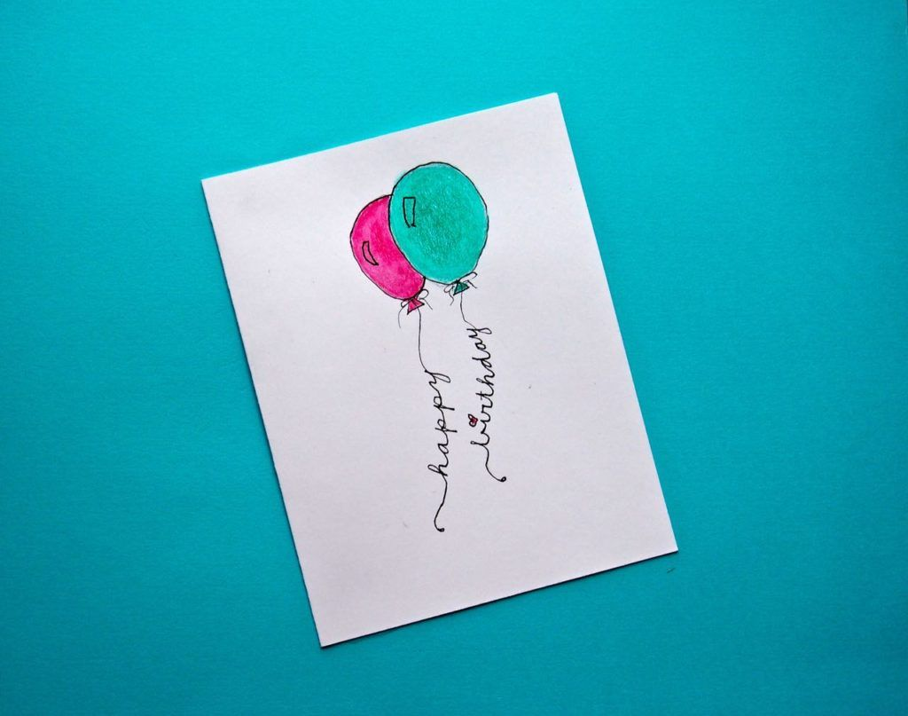 8 Super Easy Diy Watercolor Birthday Cards Cha Ching On A Shoestring Watercolor Birthday Cards Birthday Card Drawing Birthday Cards Diy