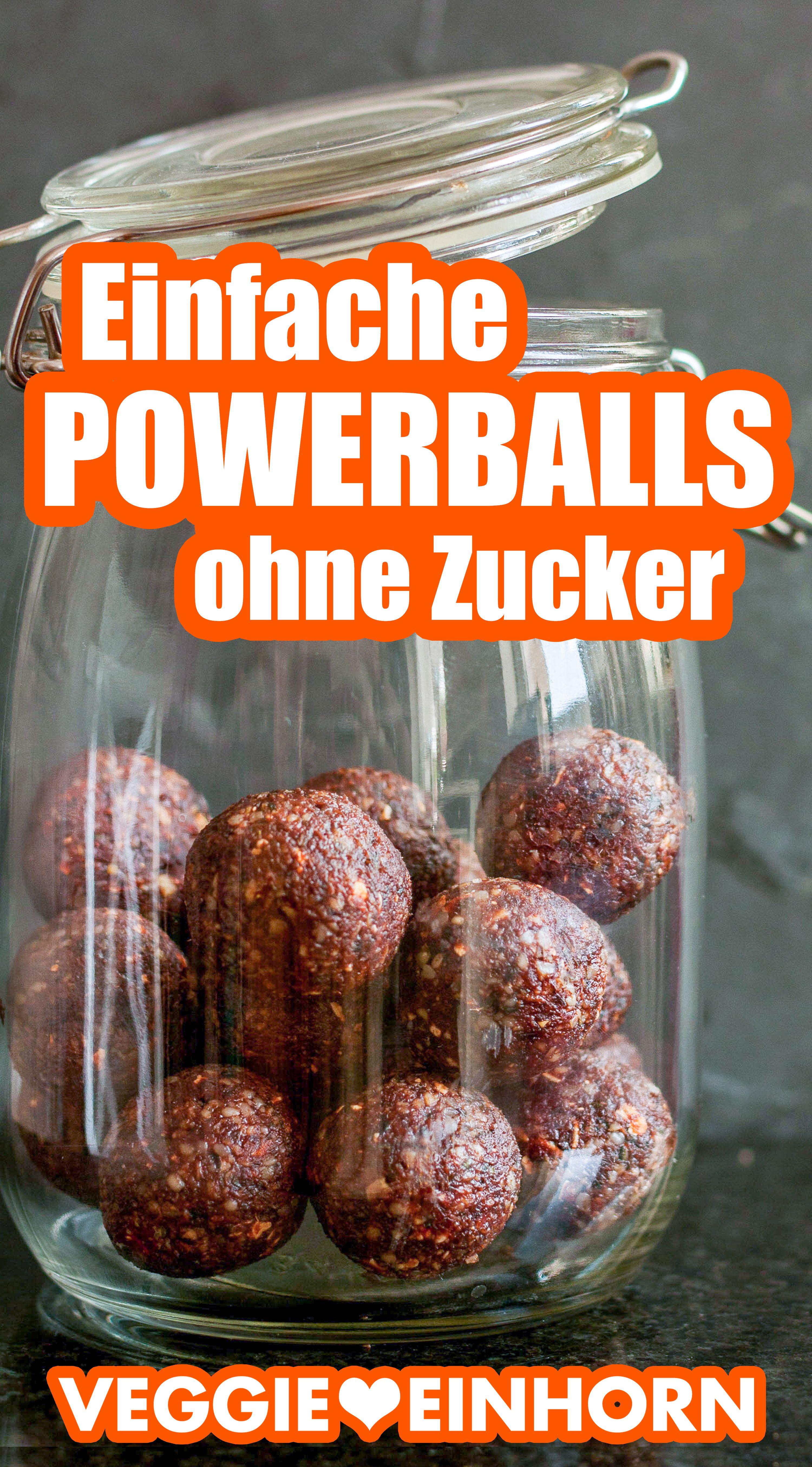 Einfaches Powerball Rezept mit 3 Zutaten | Gesunde Energiebällchen ohne Zucker | Vegane Energy Balls