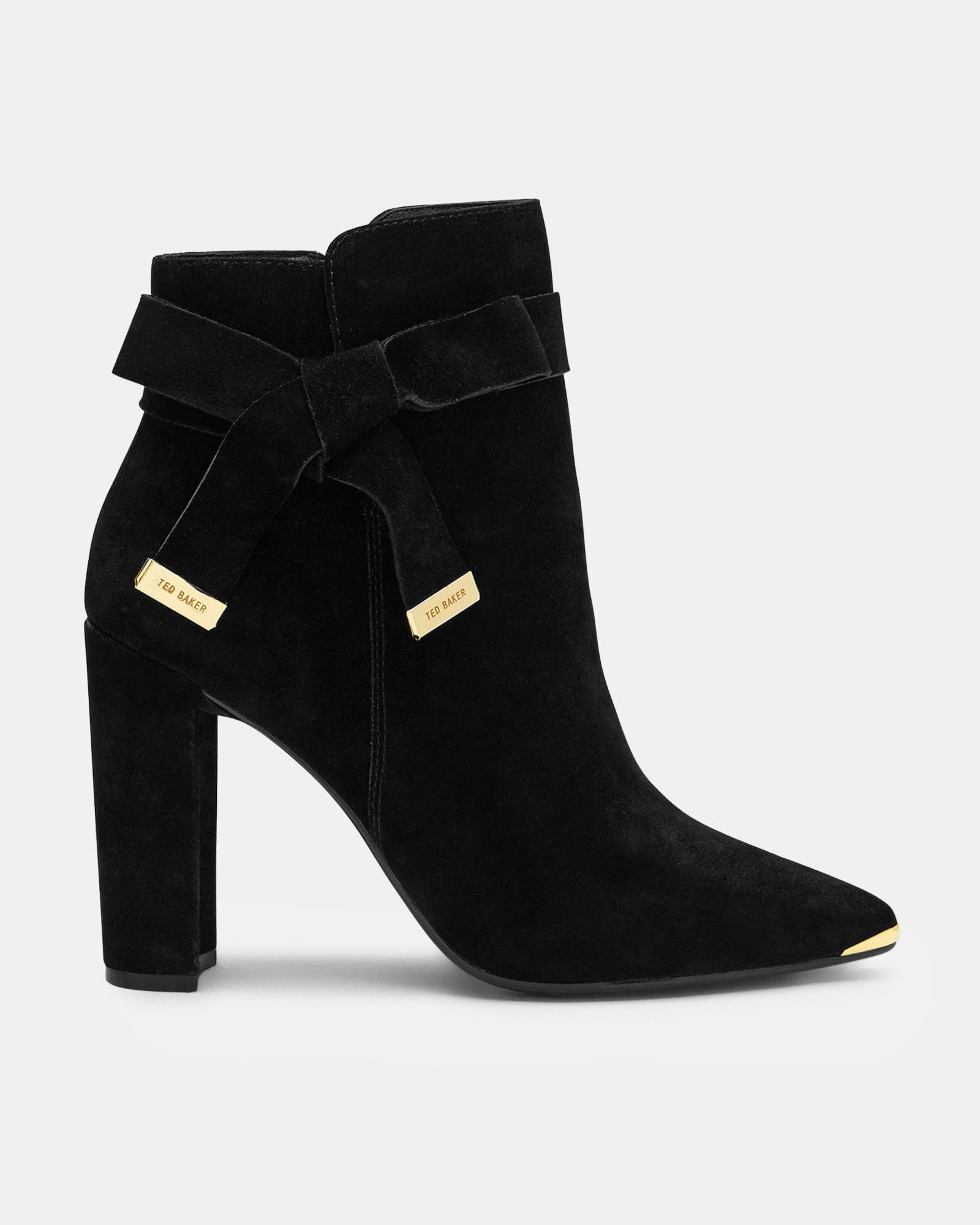 Ted Baker Bow detail suede ankle boots