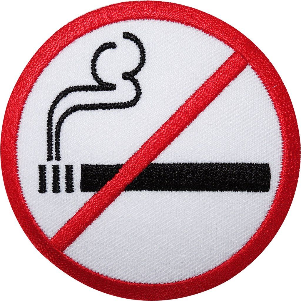 No smoking sign embroidered iron sew on patch embroidery applique no smoking sign embroidered iron sew on patch embroidery applique symbol badge biocorpaavc Image collections