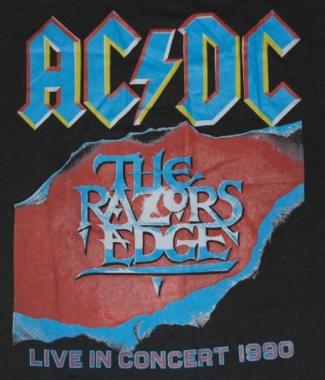 Ac Dc Razors Edge Tour Shirt