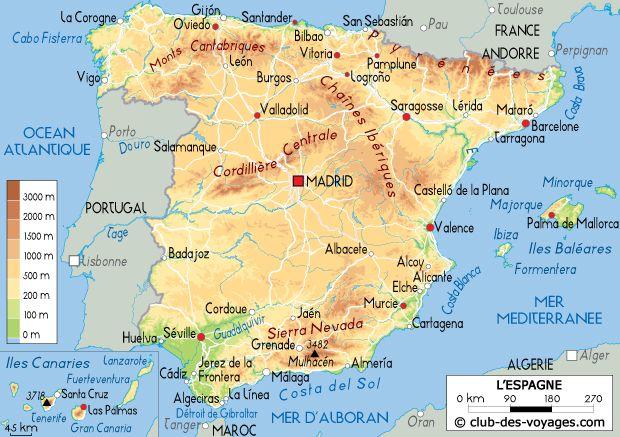 Carte De L Espagne Espagne Carte Carte Espagne