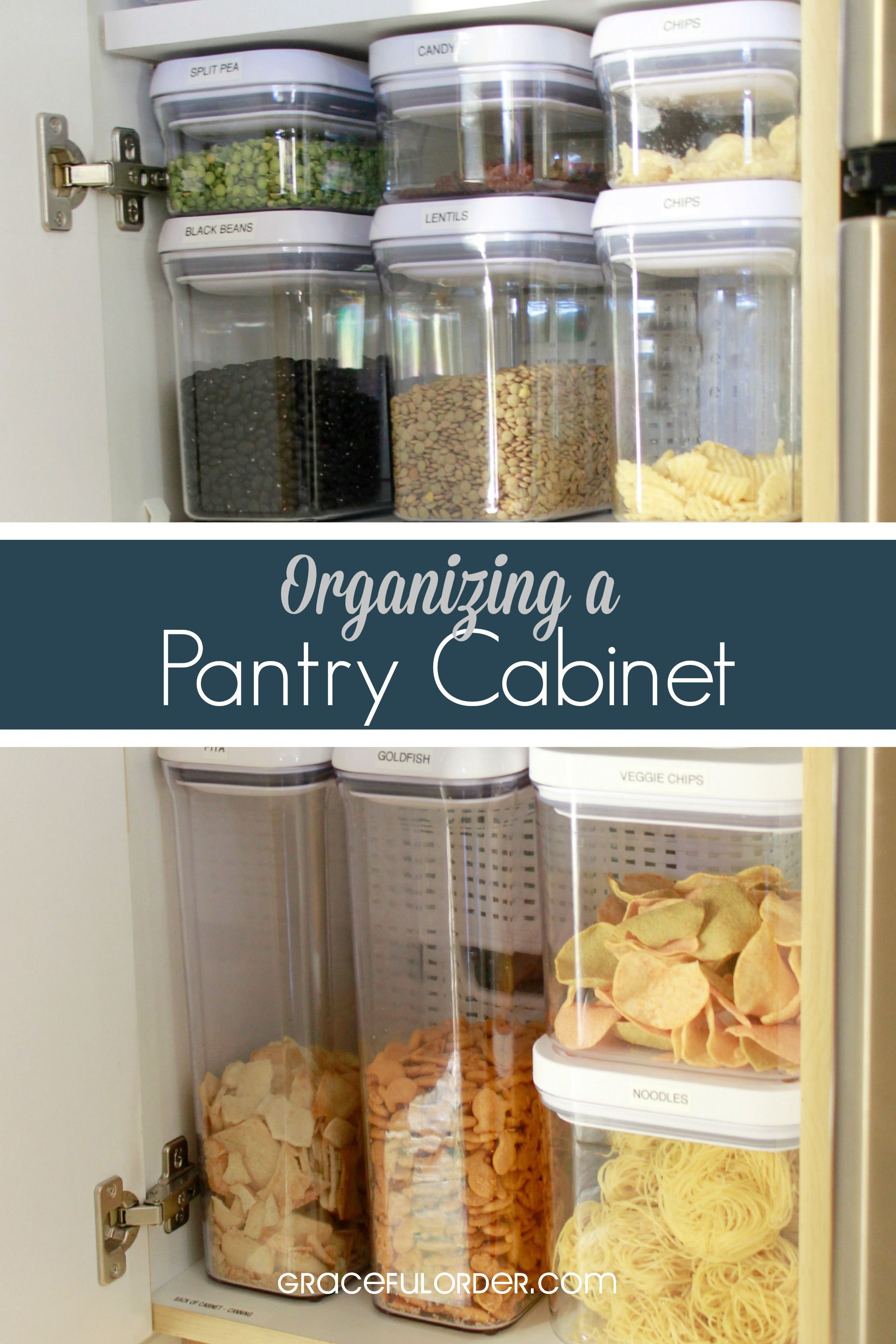 Organizing A Deep Pantry Cabinet Deep Pantry Pantry Cabinet No Pantry Solutions