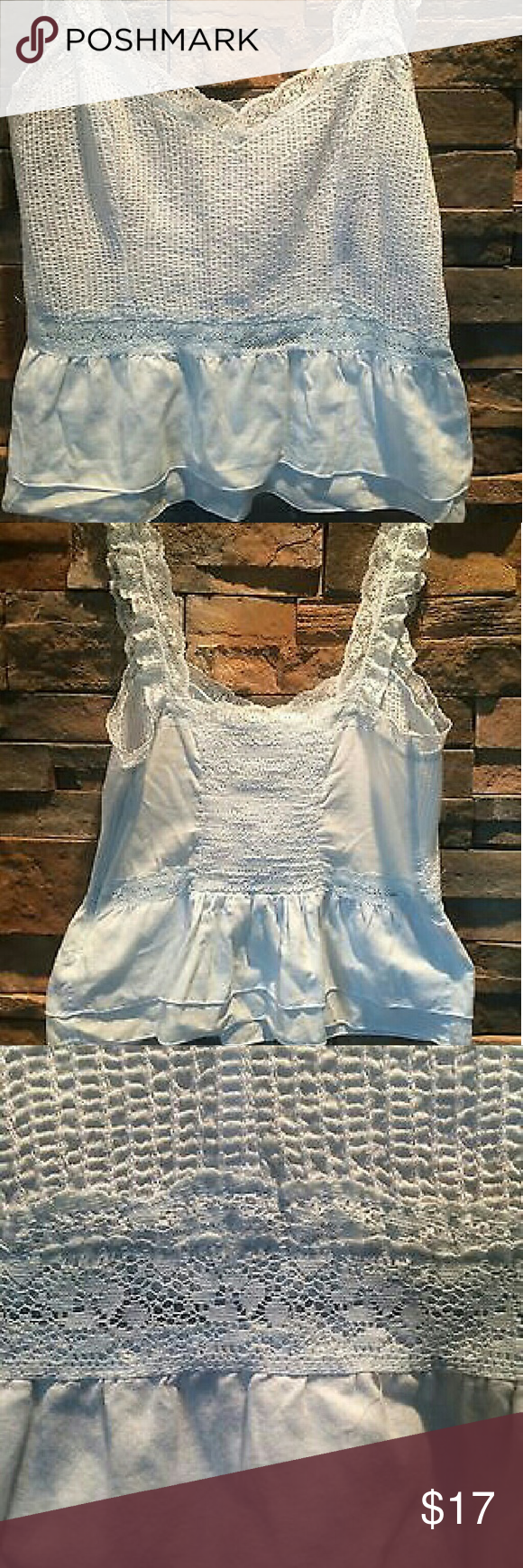 Free People Baby Blue Tank Side zip and ruching in the back. Baby blue. Bnwot never worn so gorgeous!  In perfect pristine condition! Store display never worn  No trades! Free People Tops Tank Tops