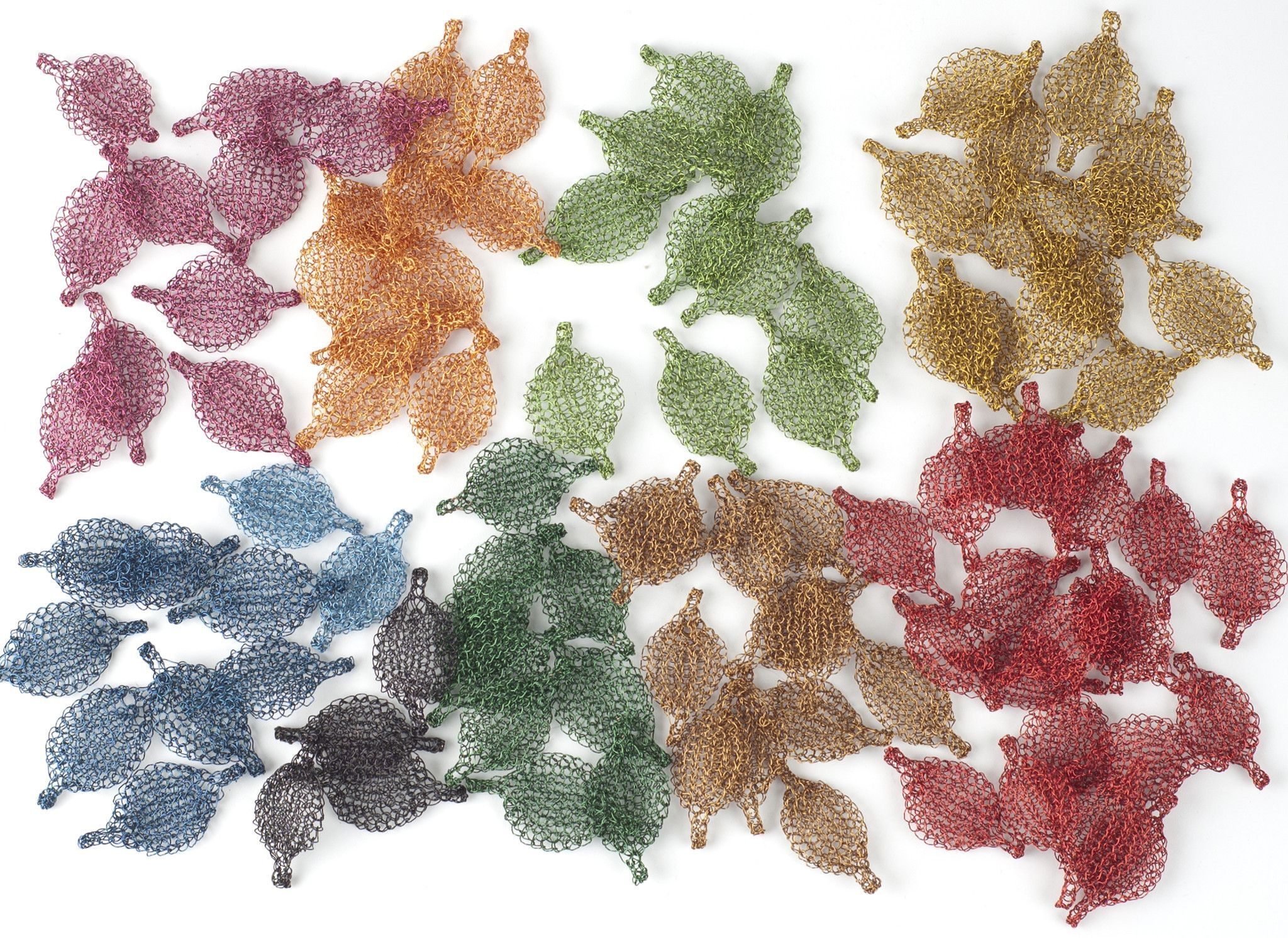 Unique Jewelry Making Supply Flat Crocheted Leaves Crochet Copper Wire Diagram Made Of Colors Are Only Available From The List Below