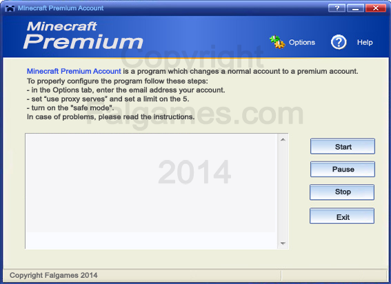 Minecraft Premium Account is a small and free program. Program which changes a normal account to a premium account!
