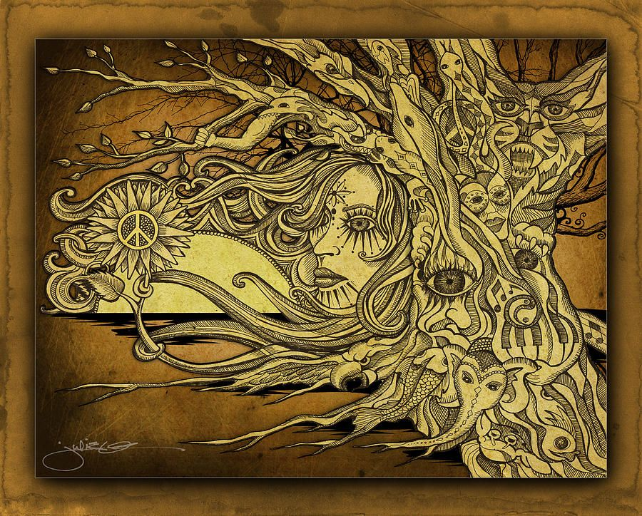 tree of life drawing mother nature tree of life fine art print