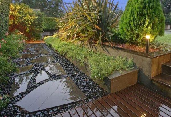 Moderne Gartengestaltung \u2013 100 erstaunliche Gartenideen - steine