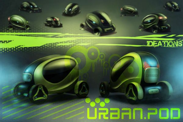 Stylish Urban.Pod Compact Vehicle Concept For Traffic Road | Spicytec