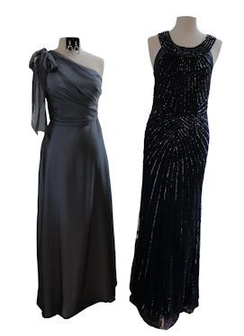 One should and beaded dresses