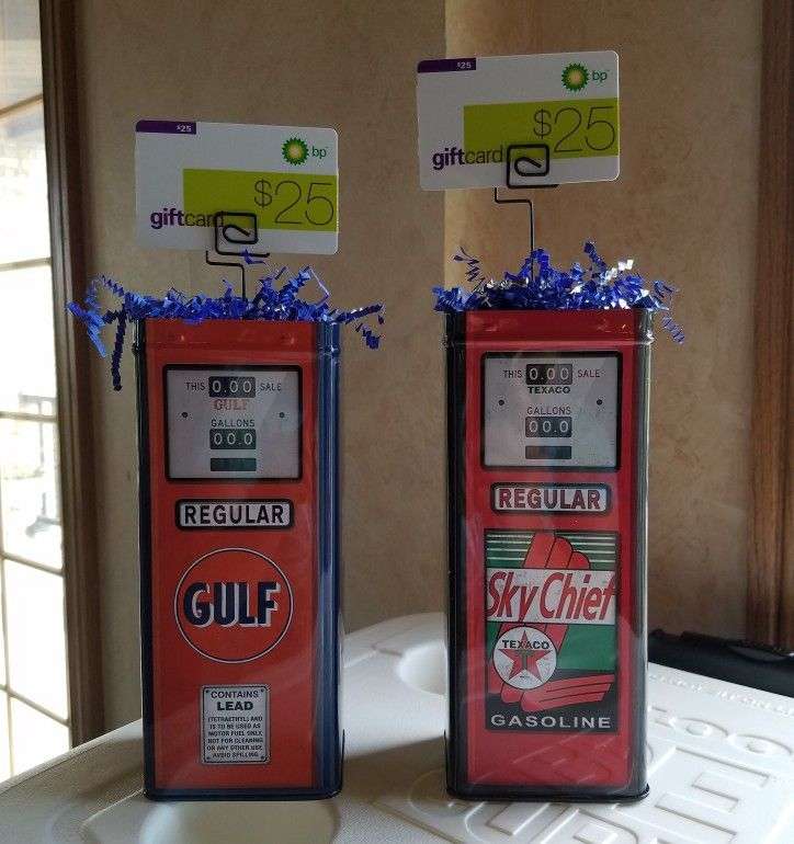 Gas station gift card prize display for fundraisers gas