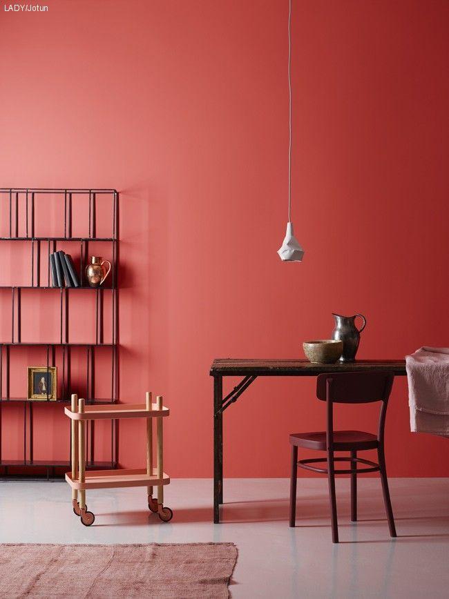 Rot Ist Die Wand. #KOLORAT #Wandfarbe #Rot #red #Interior #Wohnideen # Streichen #Küche
