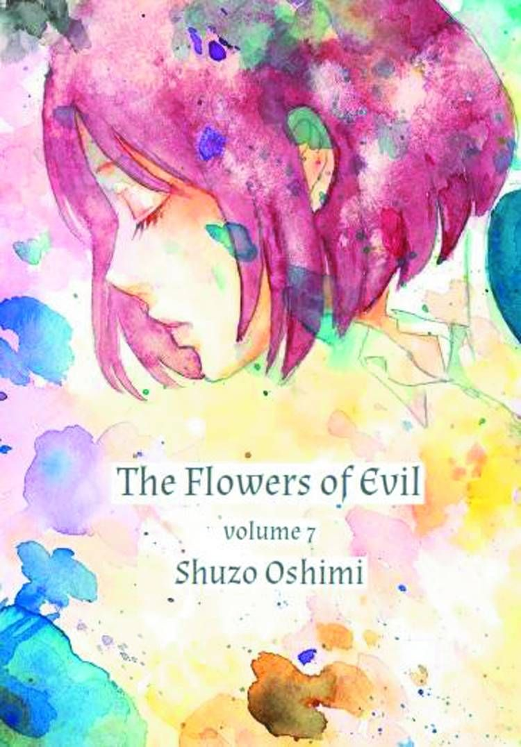 Watercolor book covers - The Flowers Of Evil Gn Vol7 Randomhouse Theflowersofevil Cover Artist Shuzo