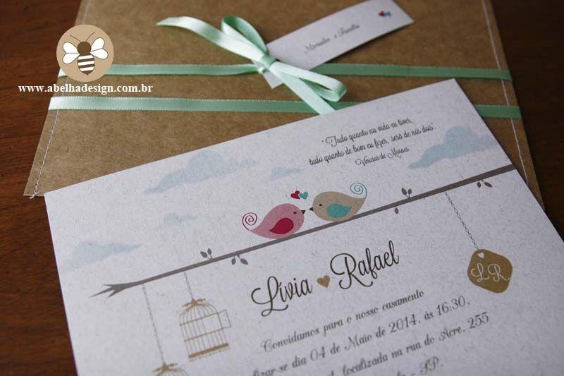 passarinho no fio convite casamento - Pesquisa Google ...