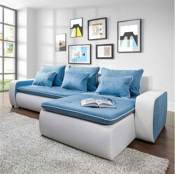 Canapé d angle 3 places convertible réversible BAMAKO tissu simili pas cher  - Canapé Auchan   Auchan.fr - Les Bonnes Affaires Auchan 7e9391e72415