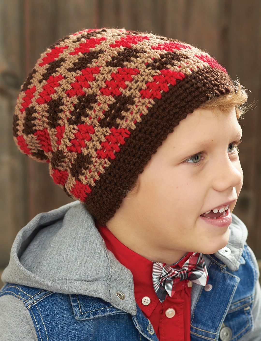 Yarnspirations.com - Patons Gingham Hat - Patterns | Yarnspirations ...