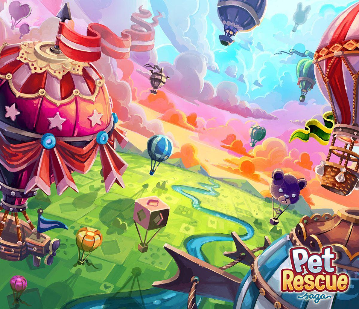 Pet Rescue Saga Background Art on Behance Art, Game