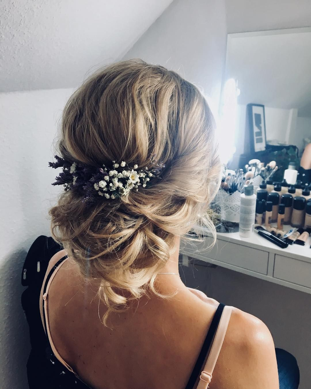 Gorgeous half up half down wedding hairstyle ideas partial updo