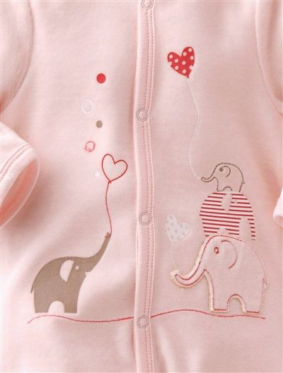 Baby Sleepsuit WHITE+PINK+BLUE