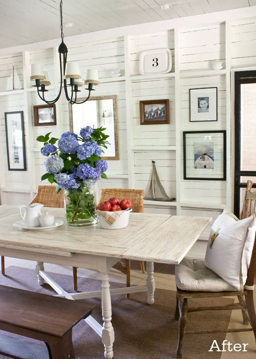 East Coast Creative: Planked Wall With Exposed Stud