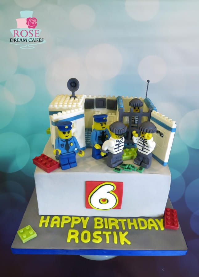 Lego Police Departmant Cake By Rose Dream Cakes Kids Birthday - Amazing edible lego chocolate stuff dreams made