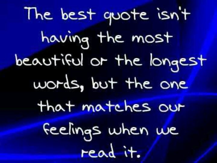 The best quote...