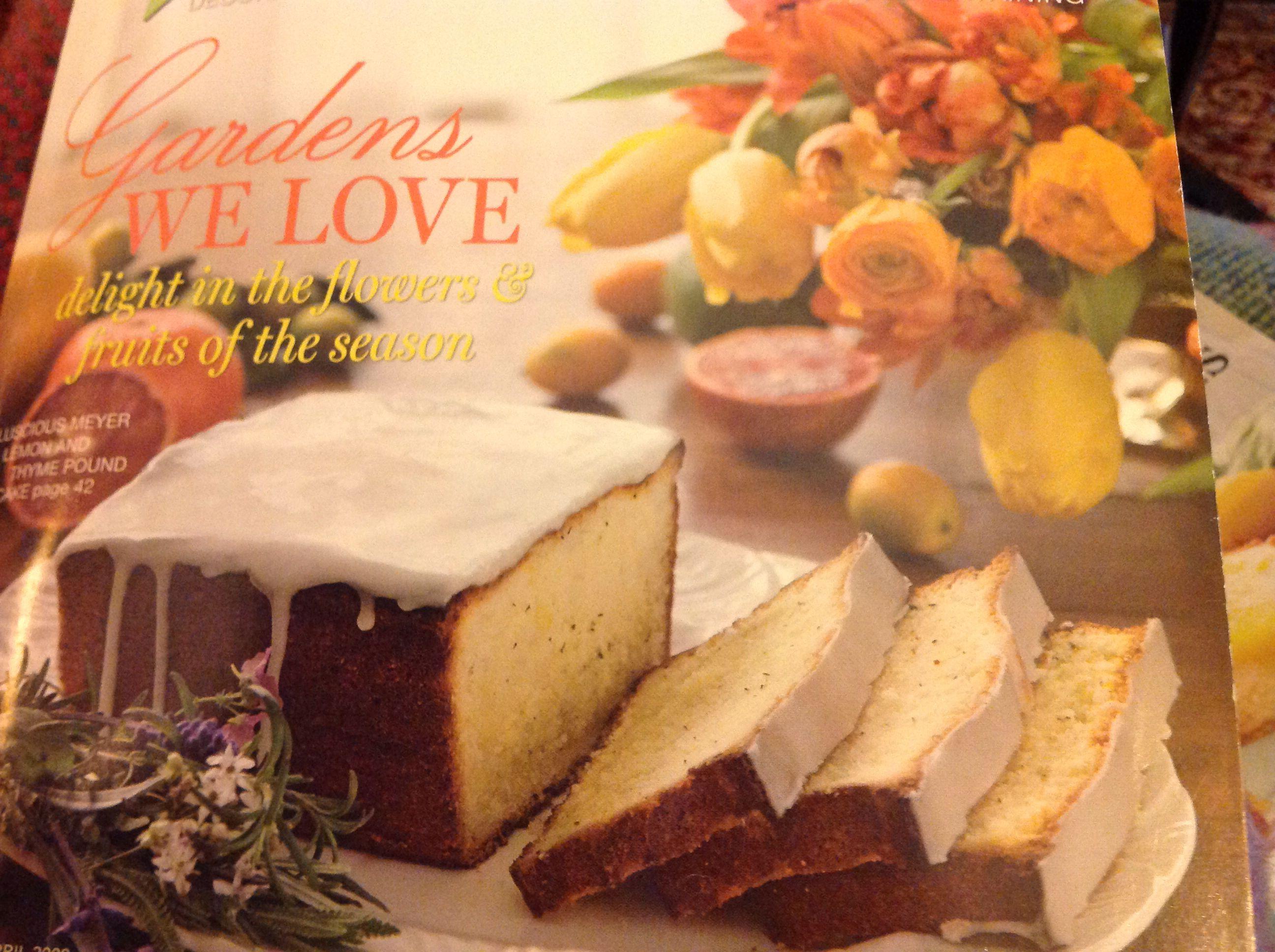 Meyers lemon pound cake for French lamb mold