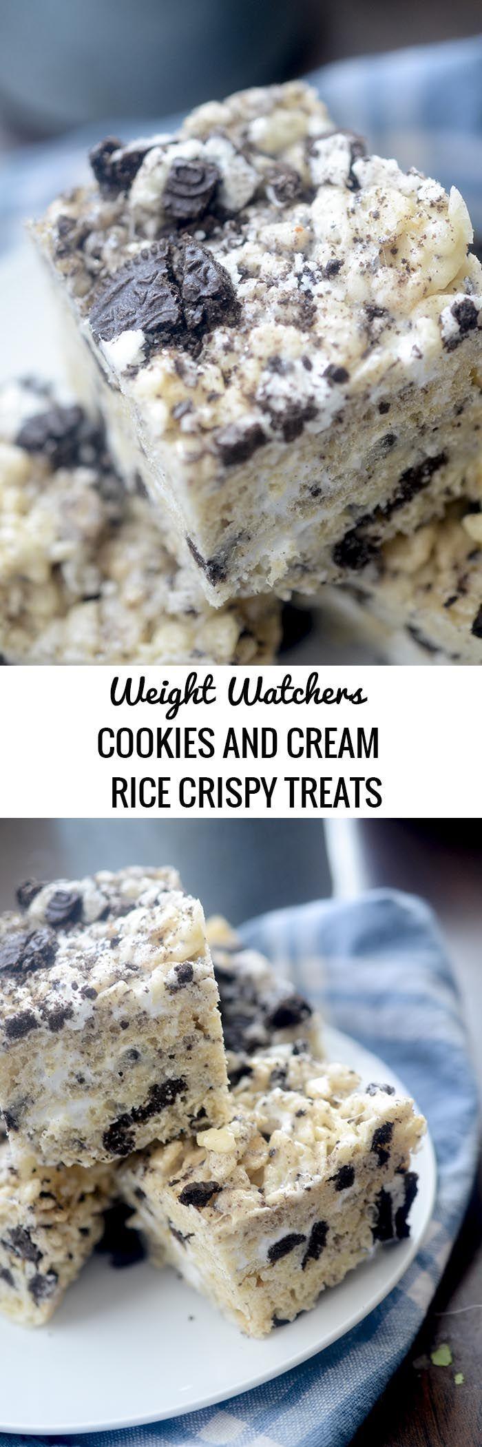 Cookies and Cream Rice Krispy Treats #crispytreats