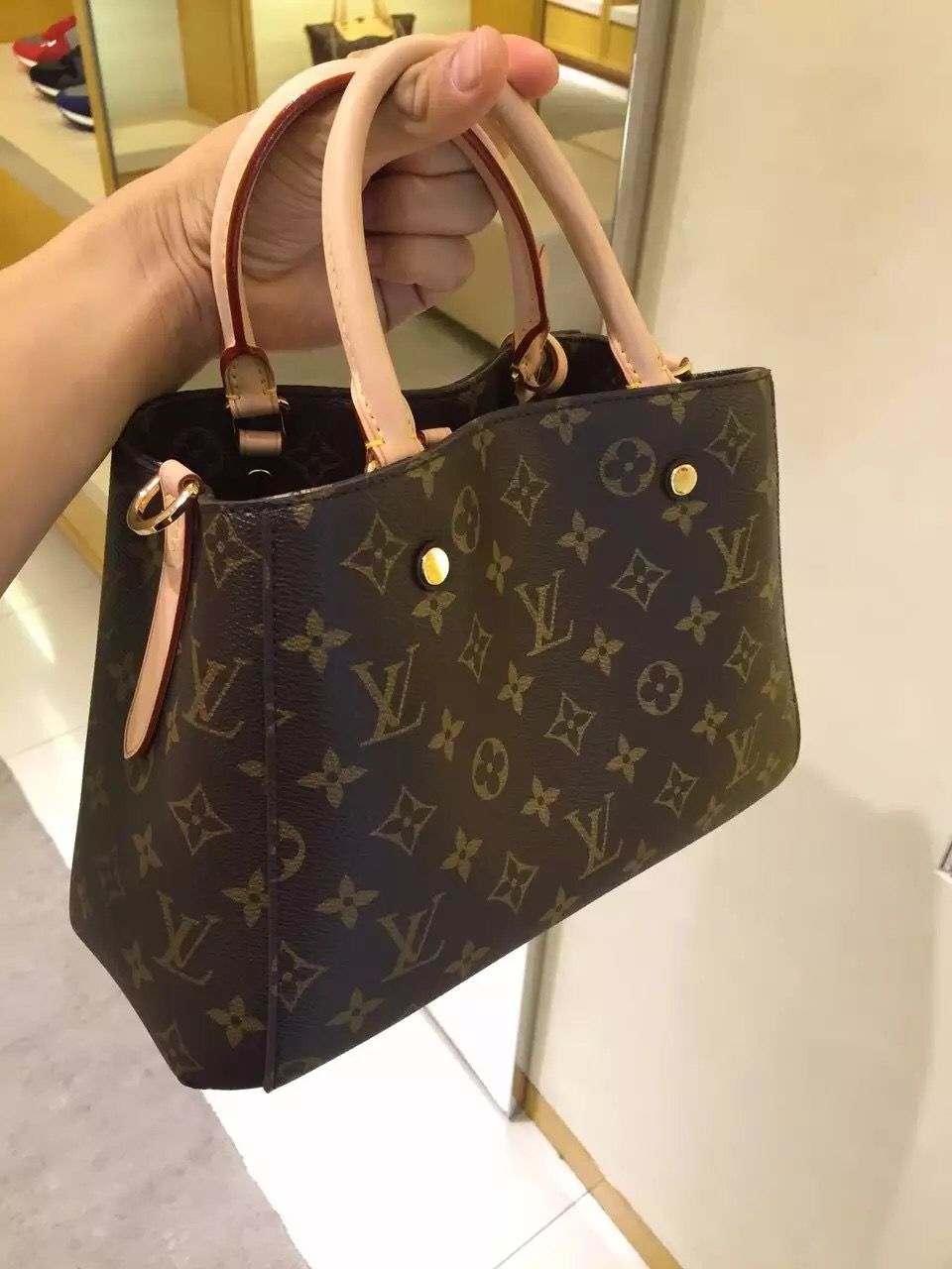 Authentic Louis Vuitton Monogram Canvas Montaigne BB Bag M41055 ... c4a7893332b28