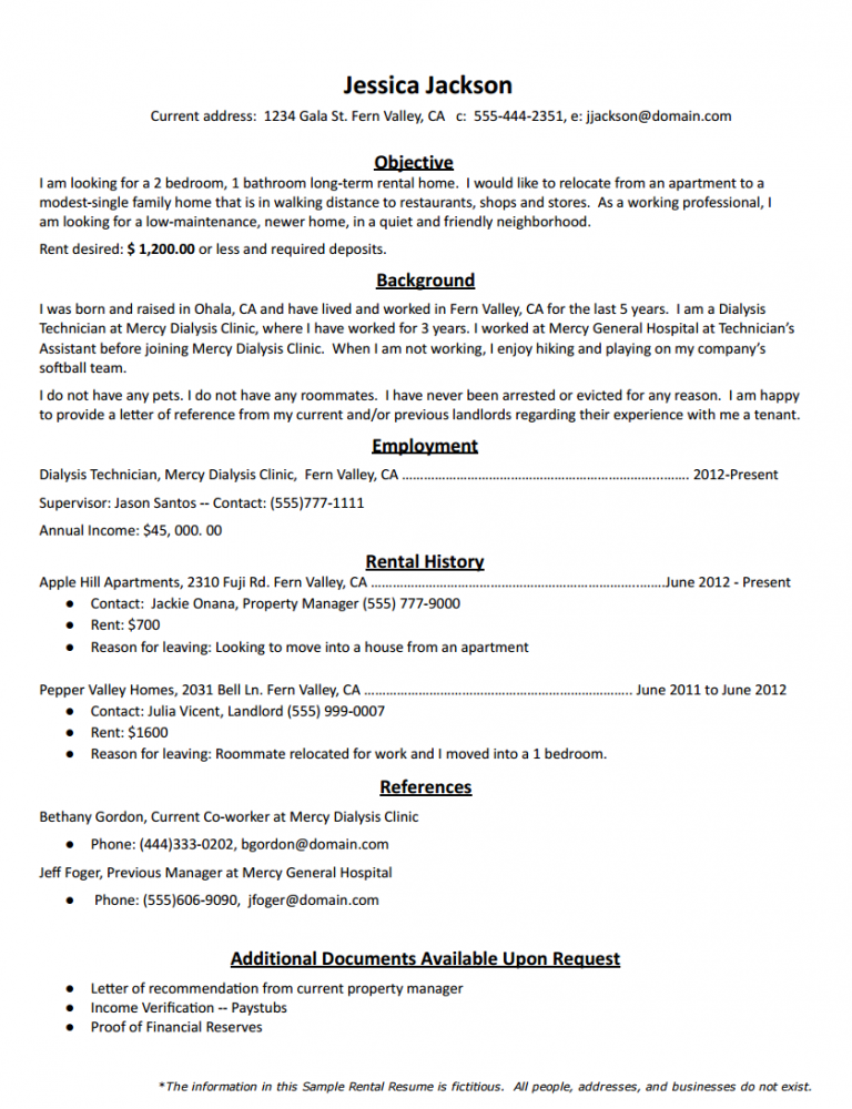 How To Create The Perfect Rental Resume Cover Letter For Resume Marketing Cover Letter Resume