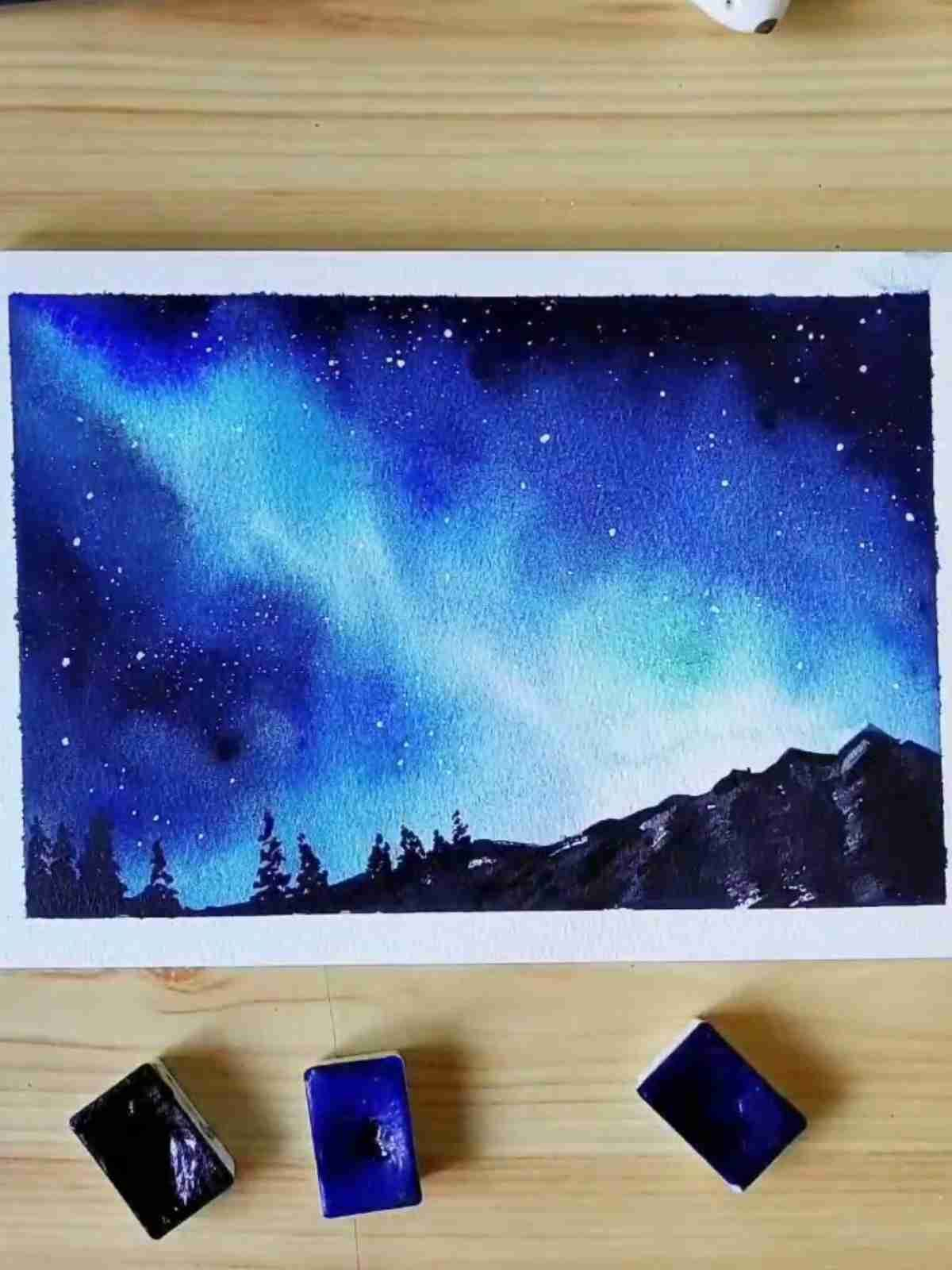 14 Easy And Beautiful Watercolor Painting Watercolor Painting Ideas Watercolor Paintings For Beginners Amazing Art Painting Painting