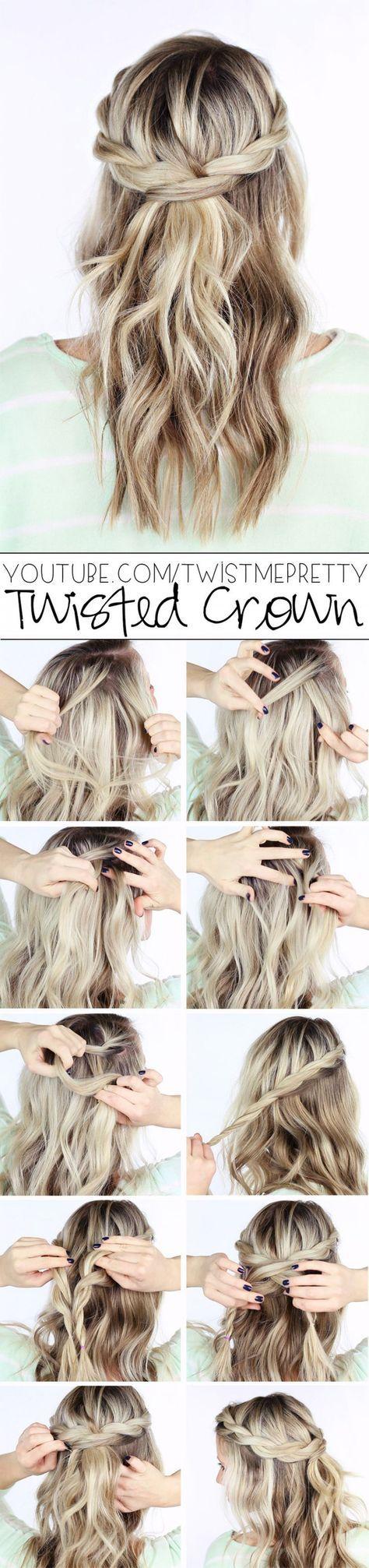 Twisted hair hair haar kapsel eline haar pinterest twist