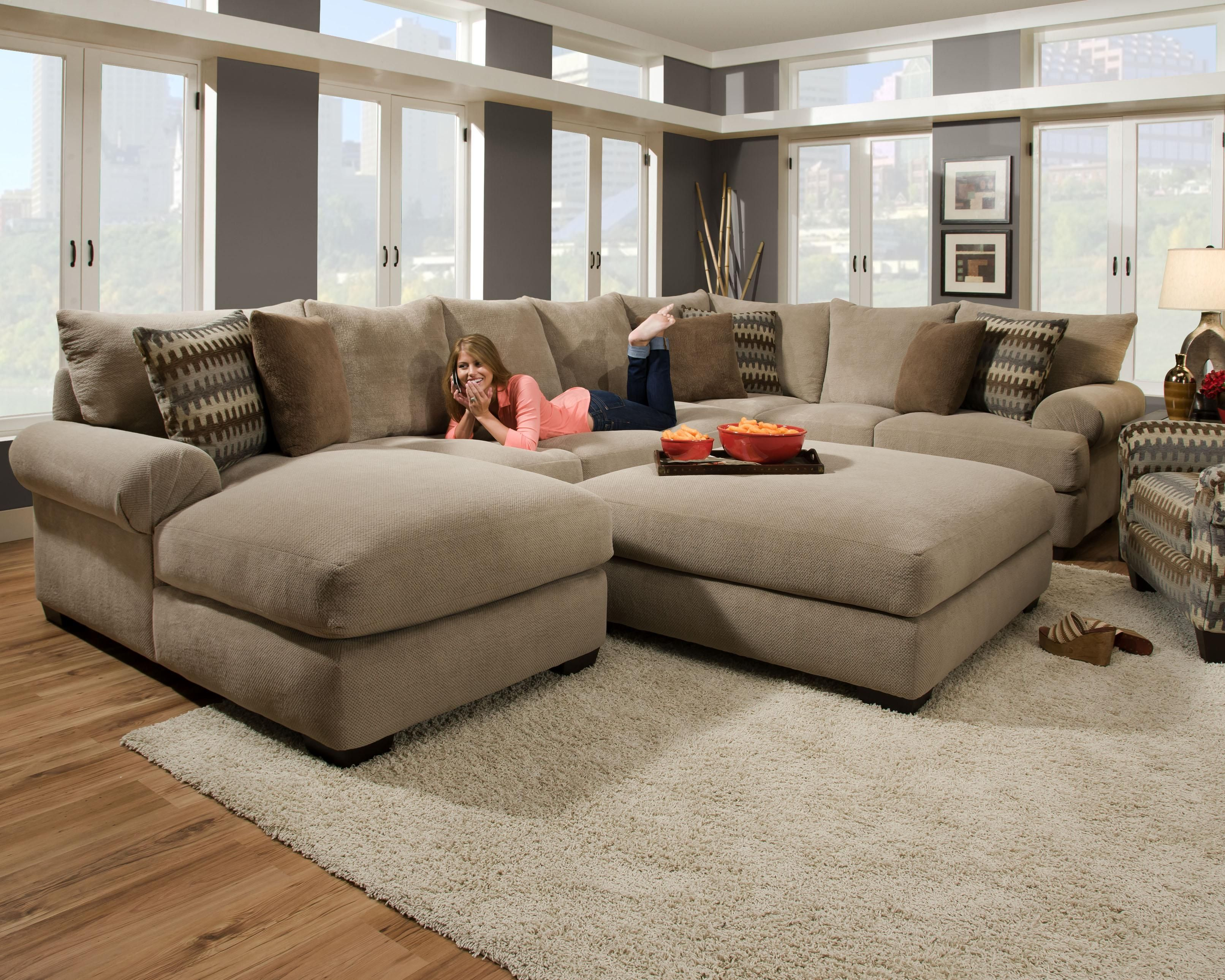 Oversized Sectional | ... Gallery Of The Avoiding Overstuff Room Using  Oversized Sectional Sofas Part 53