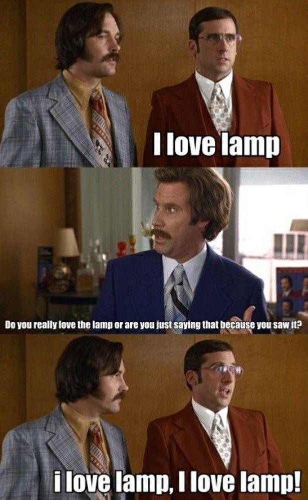 "Anchorman, Brick, Steve Carrell, ""I love lamp!"", Will ..."